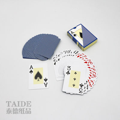 SGS 100% Advertising Plastic Playing Cards Glossy or matte varnish Finishing
